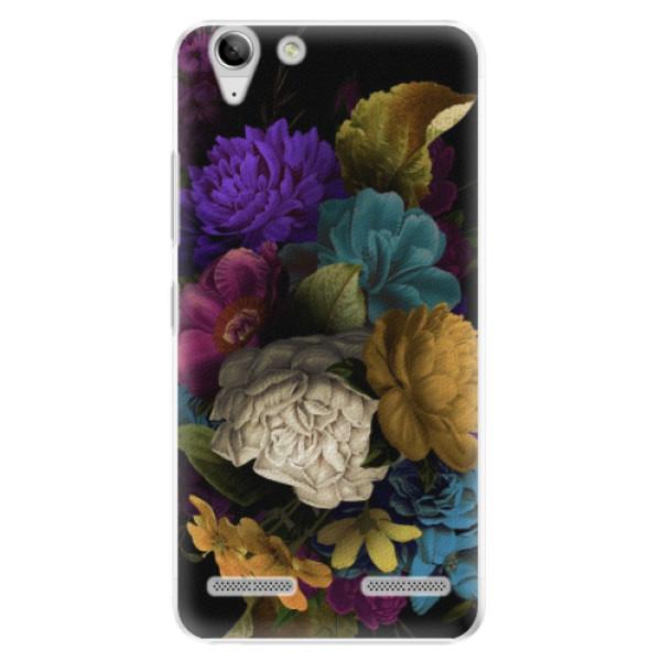 Plastové puzdro iSaprio - Dark Flowers - Lenovo Vibe K5