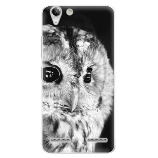 Plastové puzdro iSaprio - BW Owl - Lenovo Vibe K5