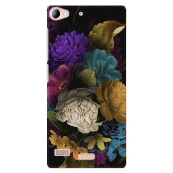 Plastové puzdro iSaprio - Dark Flowers - Lenovo Vibe X2