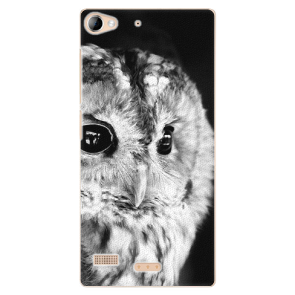 Plastové puzdro iSaprio - BW Owl - Lenovo Vibe X2