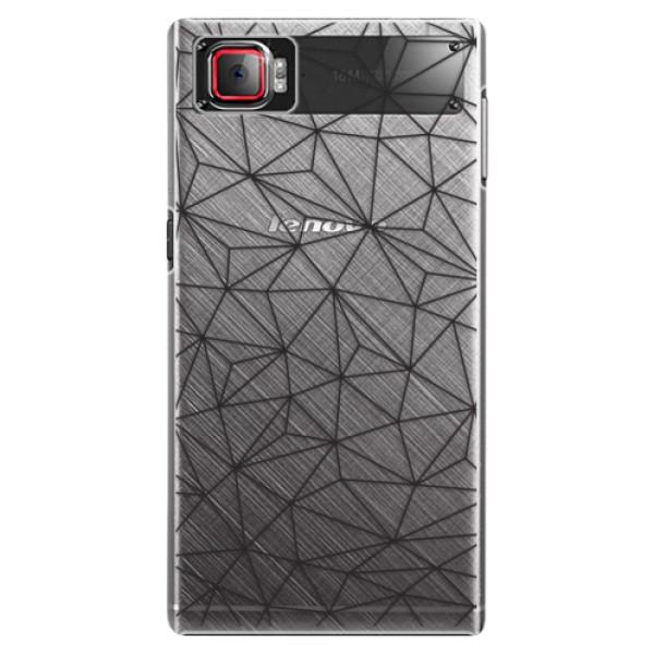 Plastové puzdro iSaprio - Abstract Triangles 03 - black - Lenovo Z2 Pro