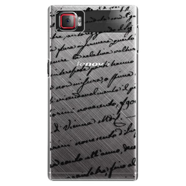 Plastové puzdro iSaprio - Handwriting 01 - black - Lenovo Z2 Pro