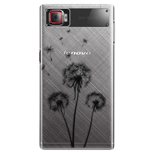 Plastové puzdro iSaprio - Three Dandelions - black - Lenovo Z2 Pro