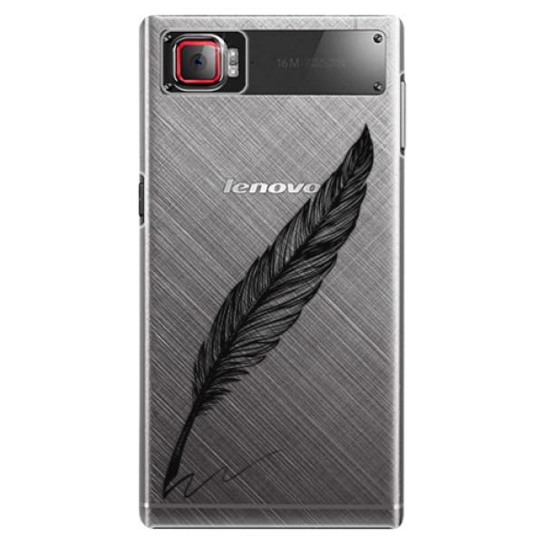 Plastové puzdro iSaprio - Writing By Feather - black - Lenovo Z2 Pro