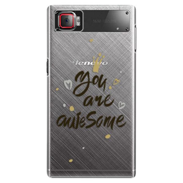Plastové puzdro iSaprio - You Are Awesome - black - Lenovo Z2 Pro