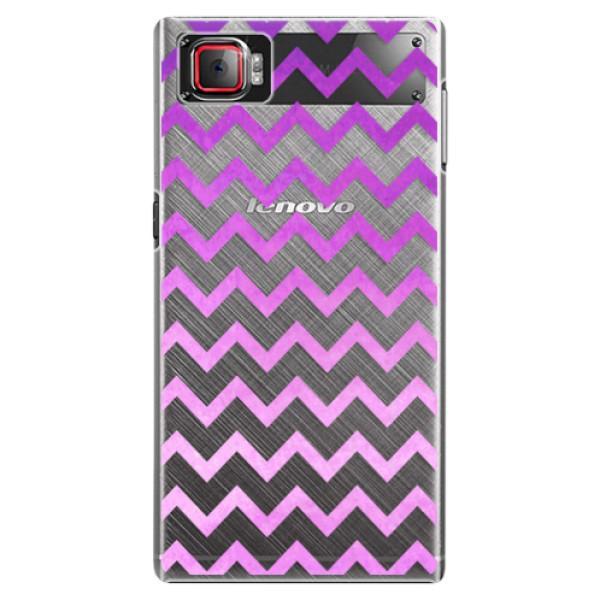 Plastové puzdro iSaprio - Zigzag - purple - Lenovo Z2 Pro