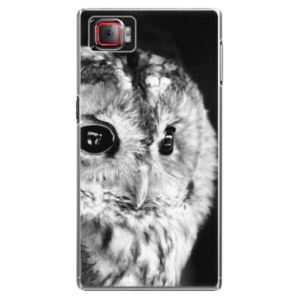 Plastové puzdro iSaprio - BW Owl - Lenovo Z2 Pro
