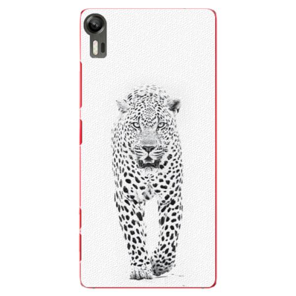 Plastové puzdro iSaprio - White Jaguar - Lenovo Vibe Shot