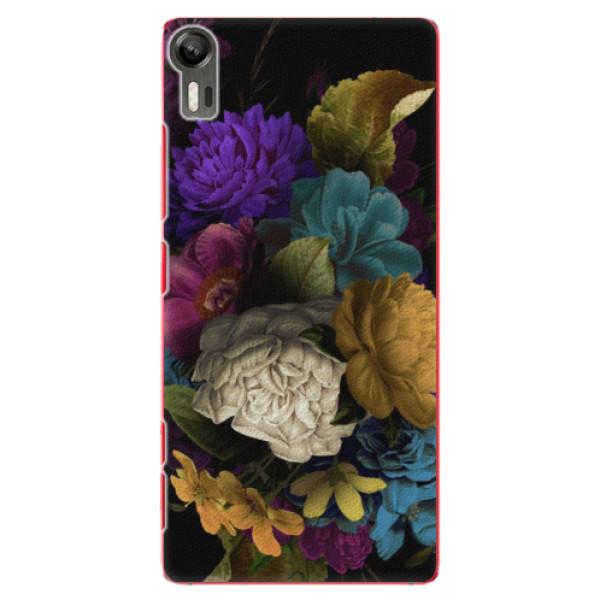 Plastové puzdro iSaprio - Dark Flowers - Lenovo Vibe Shot