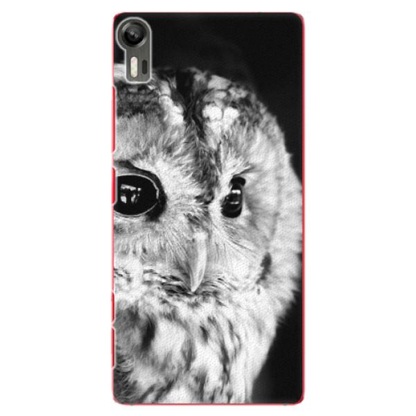 Plastové puzdro iSaprio - BW Owl - Lenovo Vibe Shot