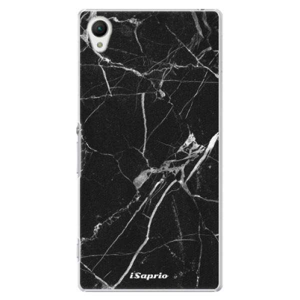 Plastové puzdro iSaprio - Black Marble 18 - Sony Xperia Z1