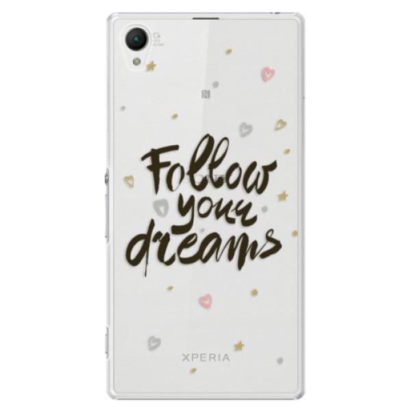Plastové puzdro iSaprio - Follow Your Dreams - black - Sony Xperia Z1