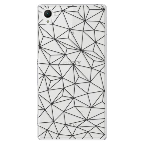 Plastové puzdro iSaprio - Abstract Triangles 03 - black - Sony Xperia Z1