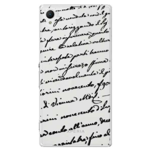 Plastové puzdro iSaprio - Handwriting 01 - black - Sony Xperia Z1