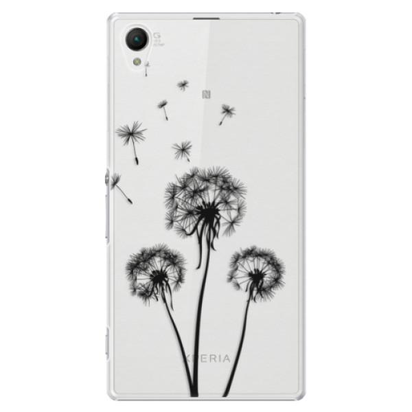 Plastové puzdro iSaprio - Three Dandelions - black - Sony Xperia Z1