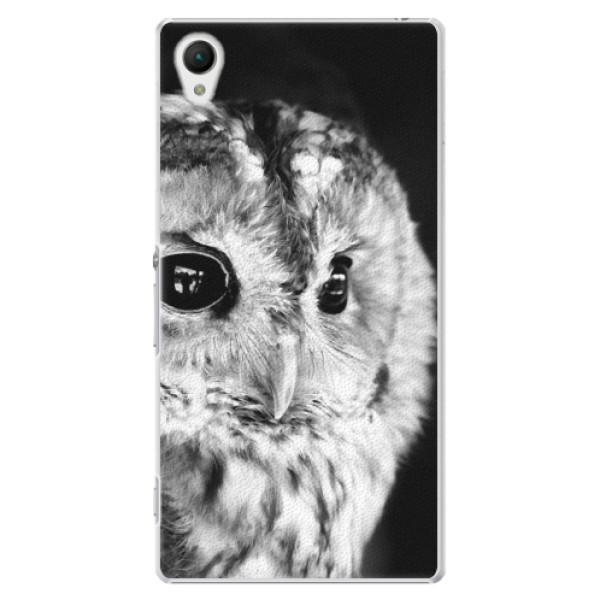 Plastové puzdro iSaprio - BW Owl - Sony Xperia Z1