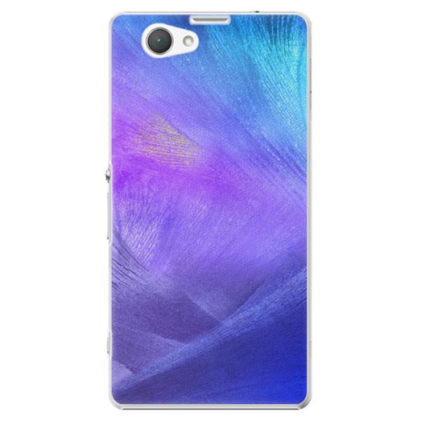 Plastové puzdro iSaprio - Purple Feathers - Sony Xperia Z1 Compact