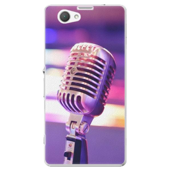 Plastové puzdro iSaprio - Vintage Microphone - Sony Xperia Z1 Compact