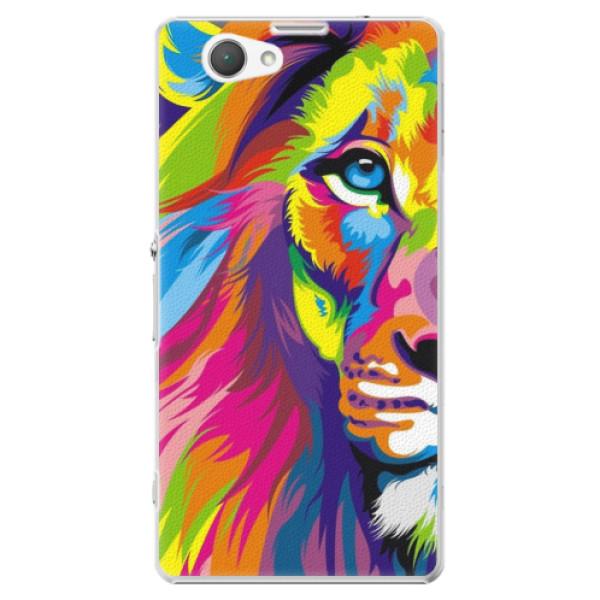 Plastové puzdro iSaprio - Rainbow Lion - Sony Xperia Z1 Compact