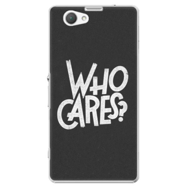 Plastové puzdro iSaprio - Who Cares - Sony Xperia Z1 Compact