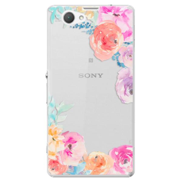 Plastové puzdro iSaprio - Flower Brush - Sony Xperia Z1 Compact