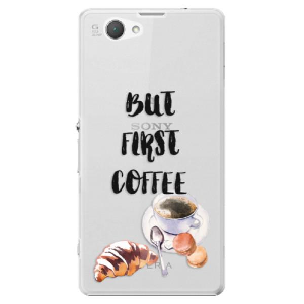 Plastové puzdro iSaprio - First Coffee - Sony Xperia Z1 Compact