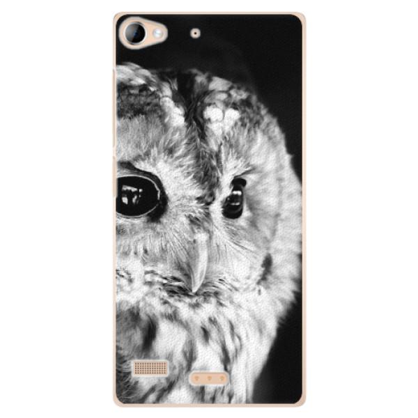 Plastové puzdro iSaprio - BW Owl - Sony Xperia Z2