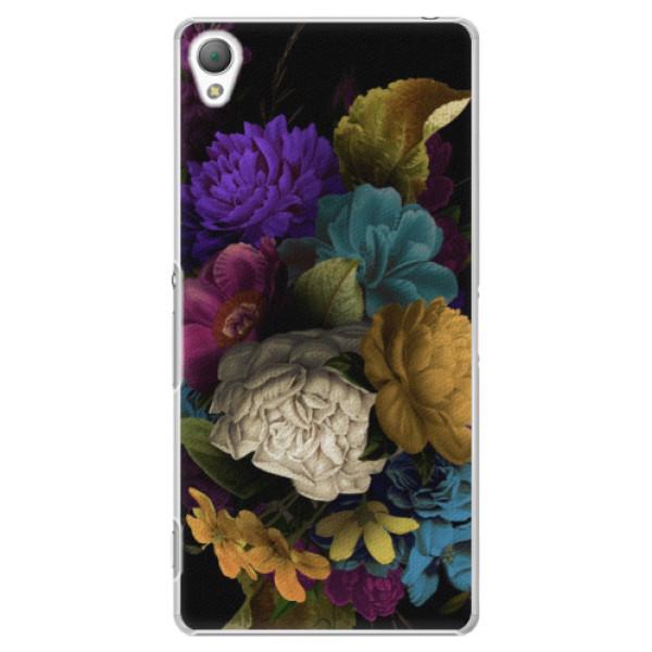 Plastové puzdro iSaprio - Dark Flowers - Sony Xperia Z3