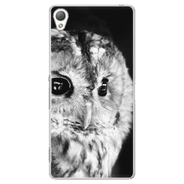 Plastové puzdro iSaprio - BW Owl - Sony Xperia Z3
