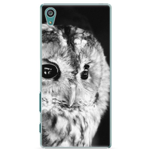 Plastové puzdro iSaprio - BW Owl - Sony Xperia Z5