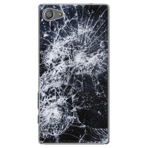 Plastové puzdro iSaprio - Cracked - Sony Xperia Z5 Compact