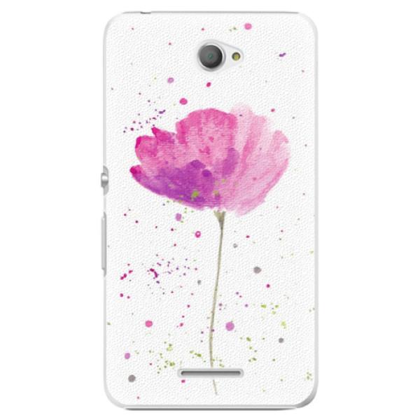 Plastové puzdro iSaprio - Poppies - Sony Xperia E4