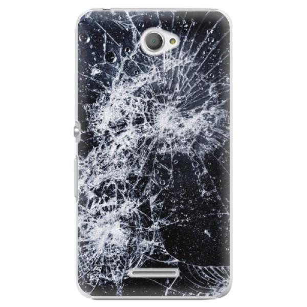 Plastové puzdro iSaprio - Cracked - Sony Xperia E4