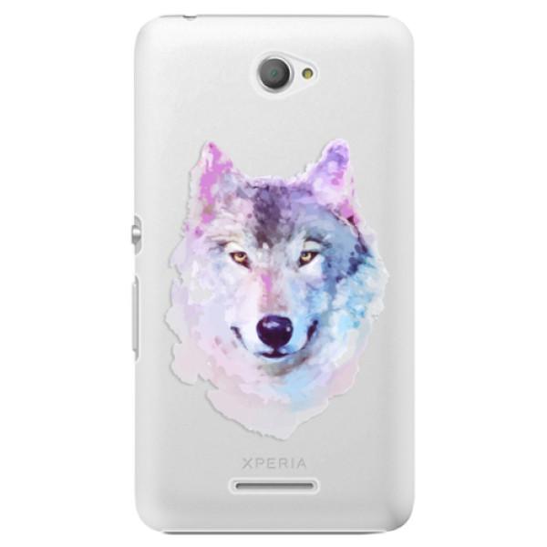 Plastové puzdro iSaprio - Wolf 01 - Sony Xperia E4