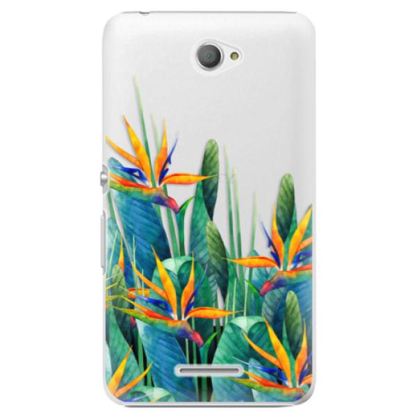 Plastové puzdro iSaprio - Exotic Flowers - Sony Xperia E4