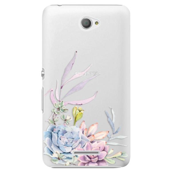 Plastové puzdro iSaprio - Succulent 01 - Sony Xperia E4