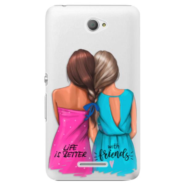 Plastové puzdro iSaprio - Best Friends - Sony Xperia E4