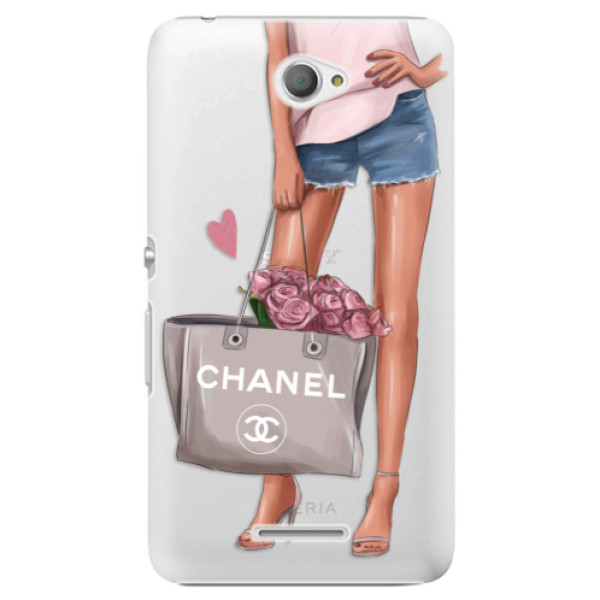 Plastové puzdro iSaprio - Fashion Bag - Sony Xperia E4