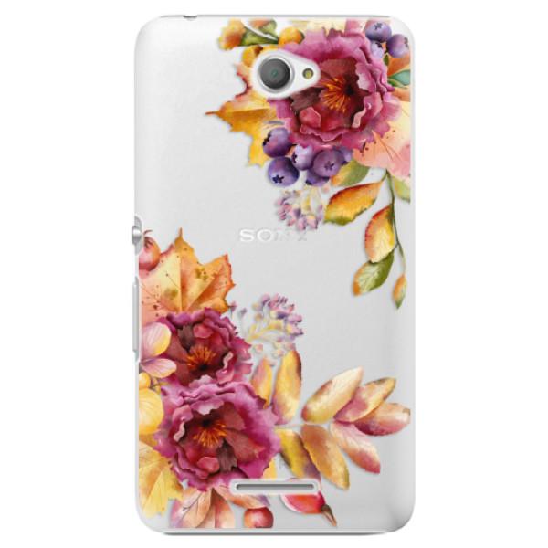 Plastové puzdro iSaprio - Fall Flowers - Sony Xperia E4