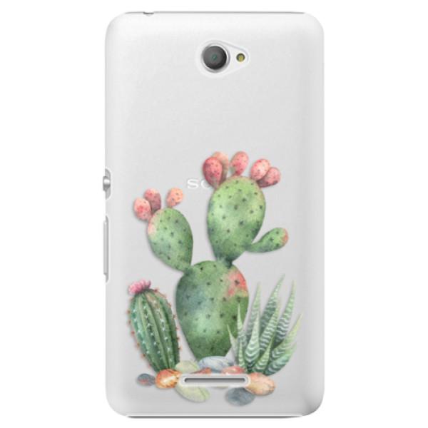 Plastové puzdro iSaprio - Cacti 01 - Sony Xperia E4