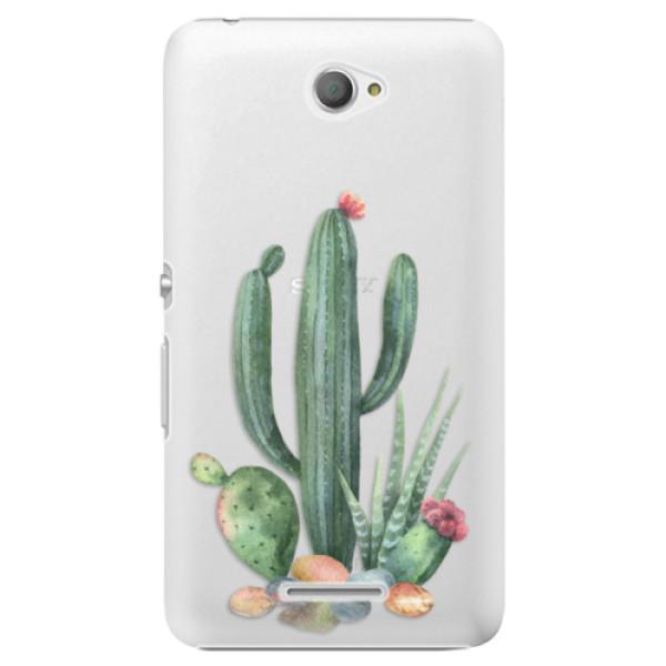 Plastové puzdro iSaprio - Cacti 02 - Sony Xperia E4