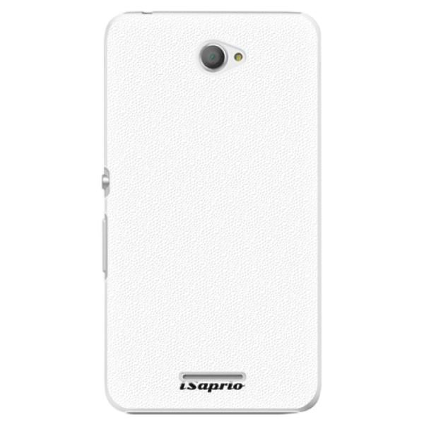 Plastové puzdro iSaprio - 4Pure - bílý - Sony Xperia E4