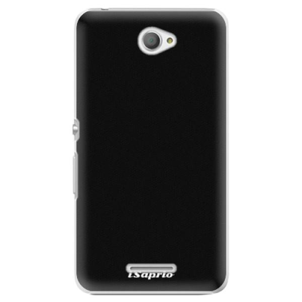 Plastové puzdro iSaprio - 4Pure - černý - Sony Xperia E4