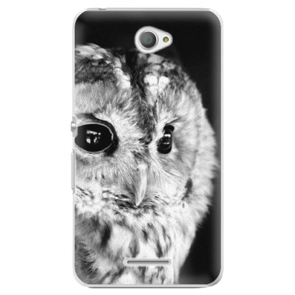 Plastové puzdro iSaprio - BW Owl - Sony Xperia E4