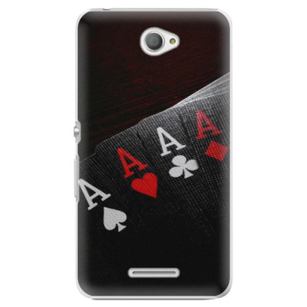 Plastové puzdro iSaprio - Poker - Sony Xperia E4