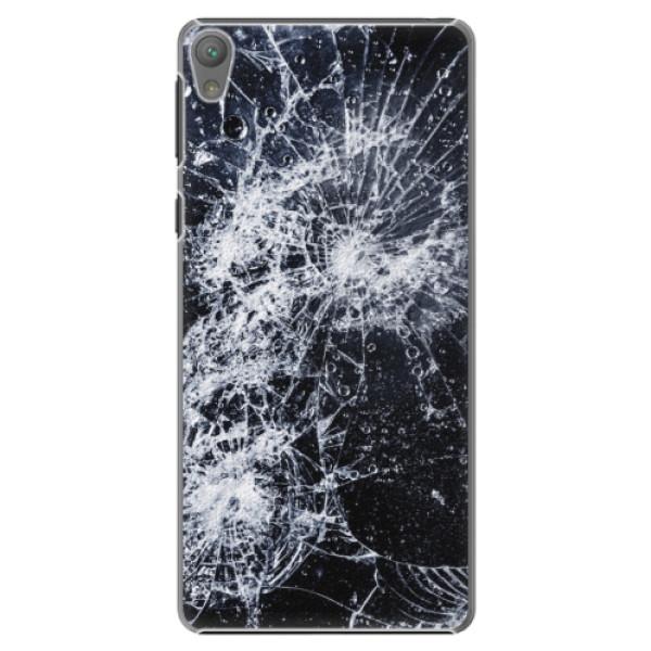 Plastové puzdro iSaprio - Cracked - Sony Xperia E5