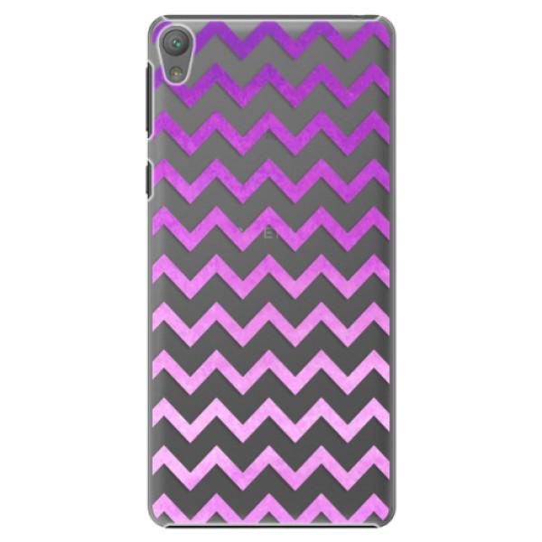Plastové puzdro iSaprio - Zigzag - purple - Sony Xperia E5