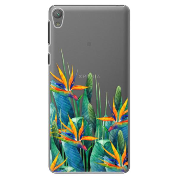 Plastové puzdro iSaprio - Exotic Flowers - Sony Xperia E5