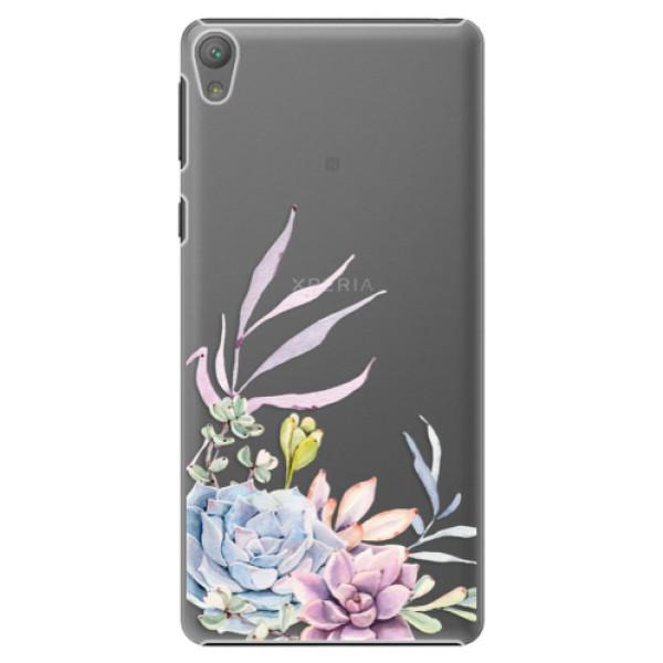 Plastové puzdro iSaprio - Succulent 01 - Sony Xperia E5