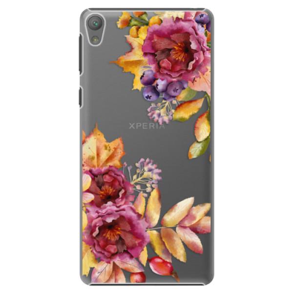 Plastové puzdro iSaprio - Fall Flowers - Sony Xperia E5